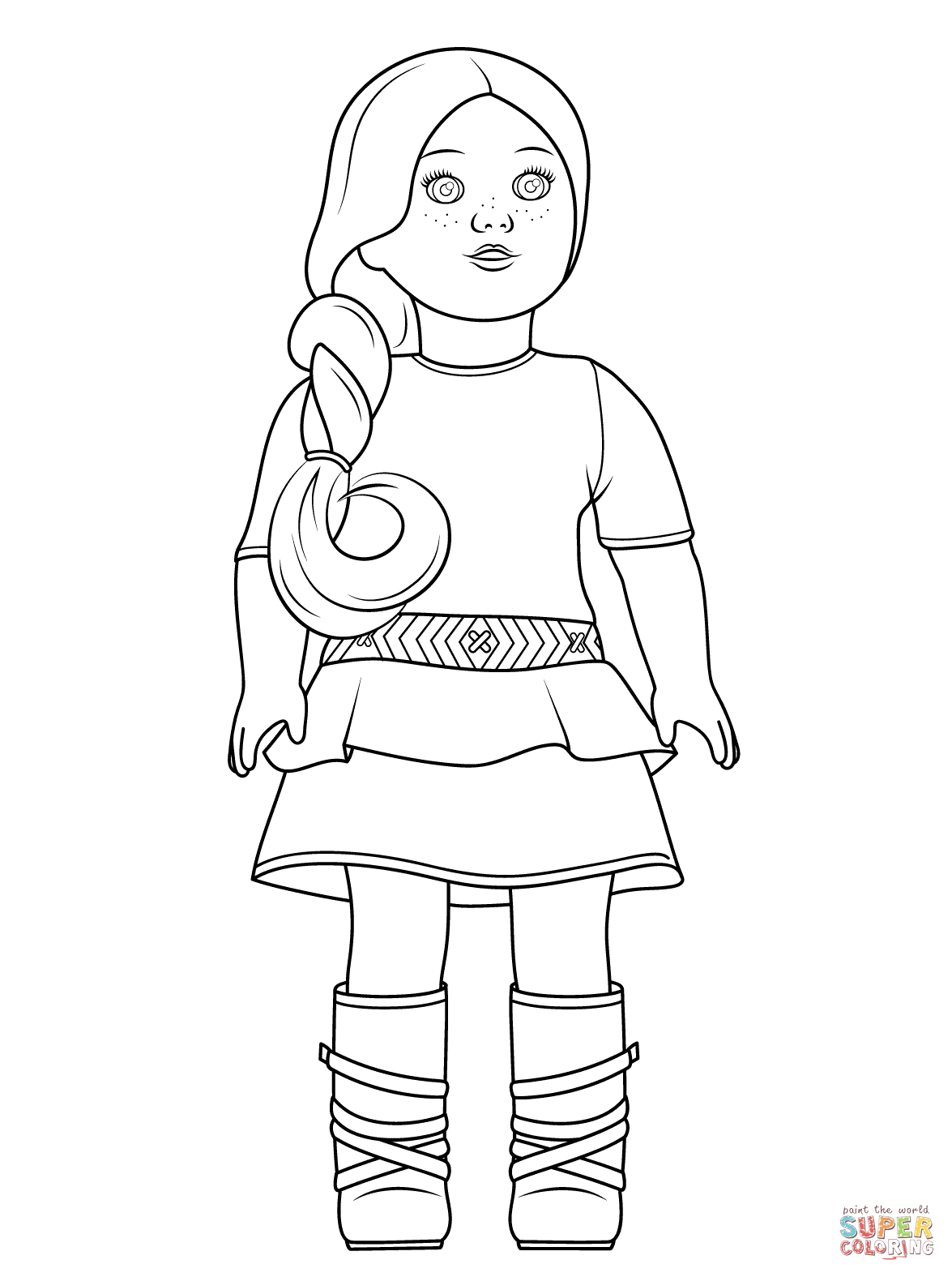 american girl doll coloring pages free photo - 1