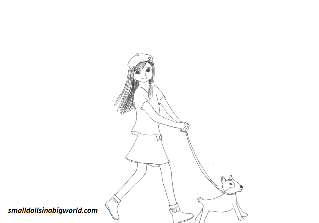 american girl doll coloring pages to print photo - 1