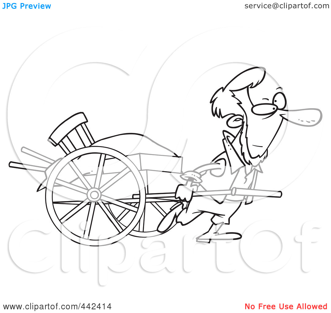 amish buggy coloring page photo - 1