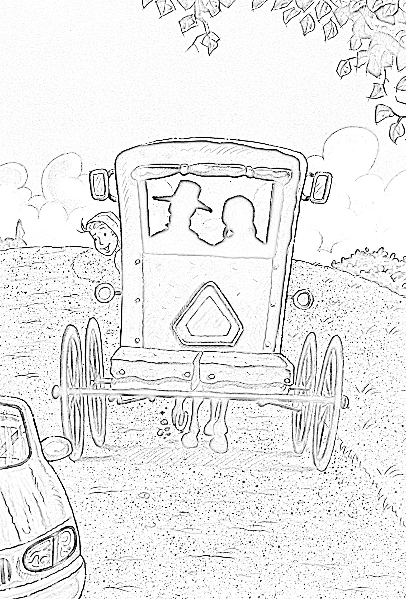amish coloring pages photo - 1