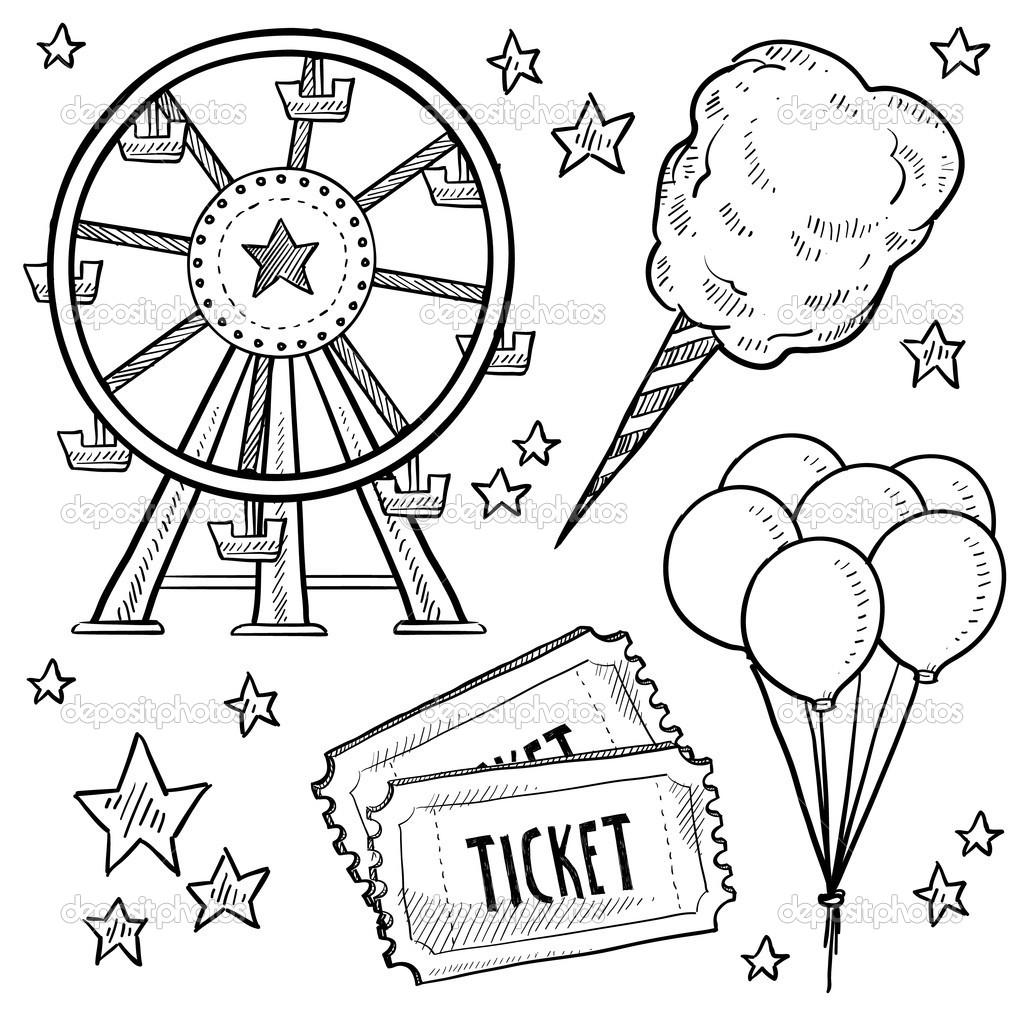 amusement park rides coloring pages photo - 1
