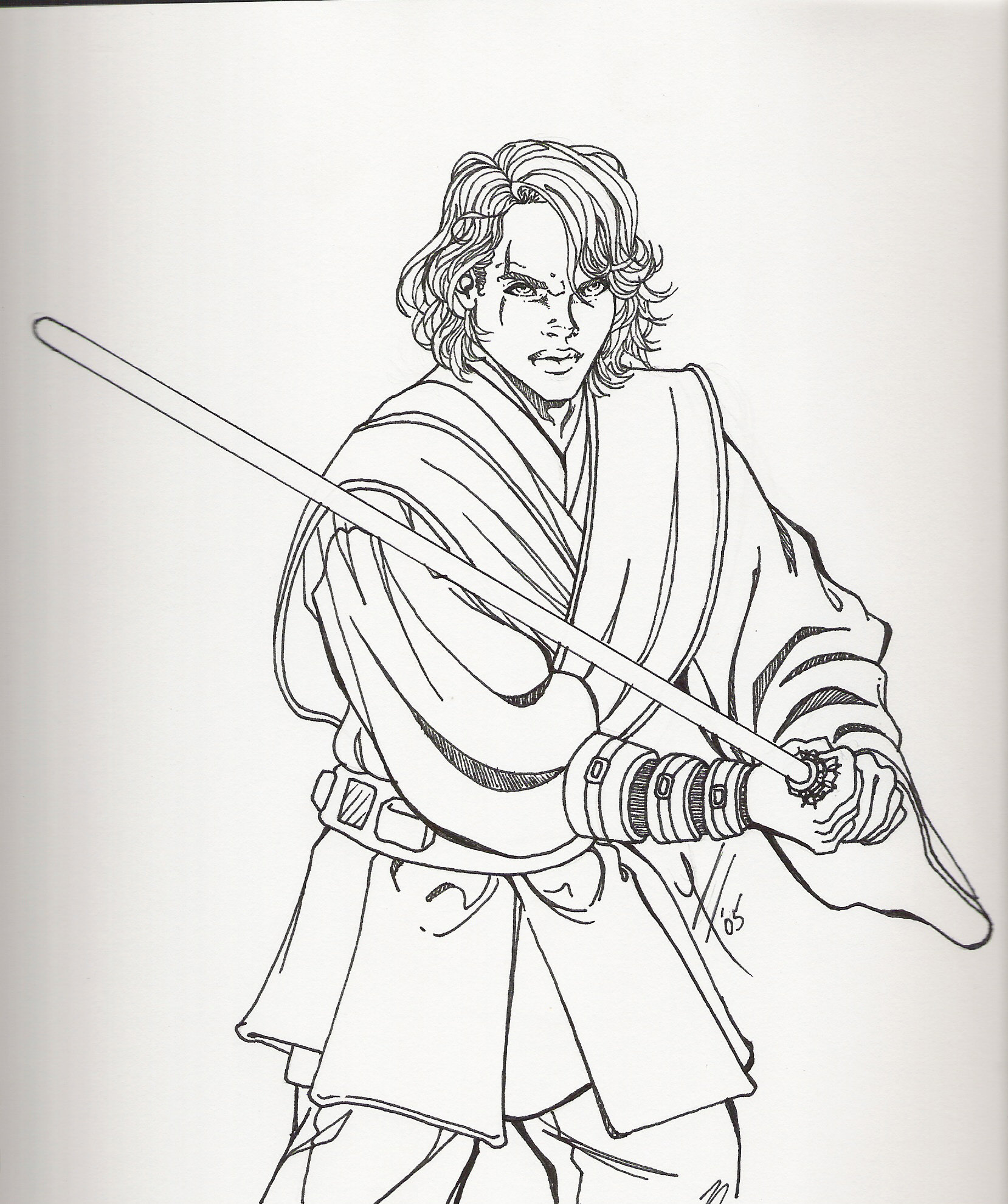 anakin coloring page photo - 1