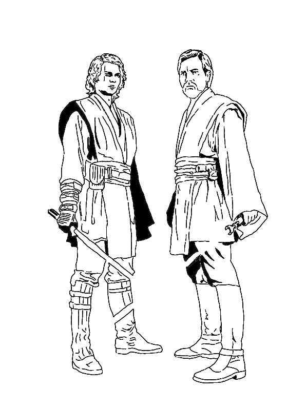 anakin vs obi wan coloring pages photo - 1