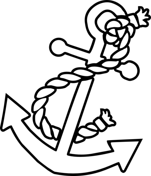 anchor coloring pages photo - 1