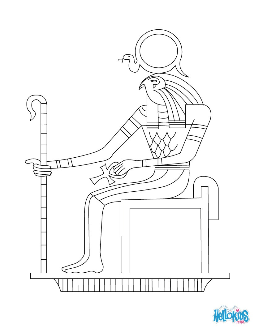 ancient egypt gods and goddesses coloring pages photo - 1