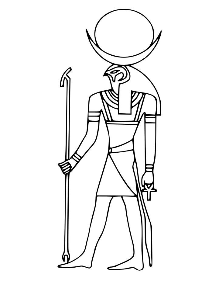 ancient egypt gods coloring pages photo - 1