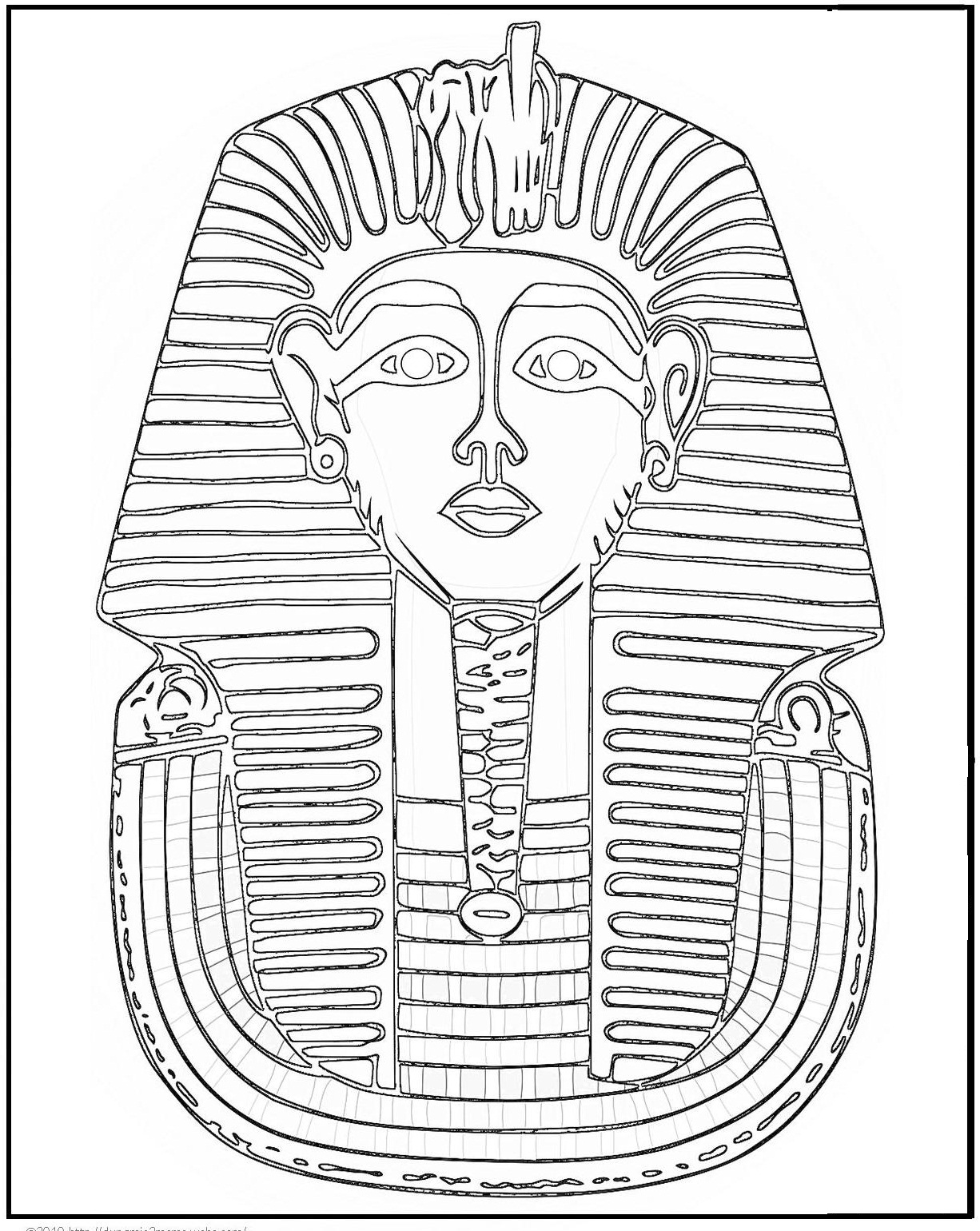 ancient egypt map coloring page photo - 1