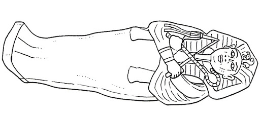 ancient egypt mummy coloring pages photo - 1