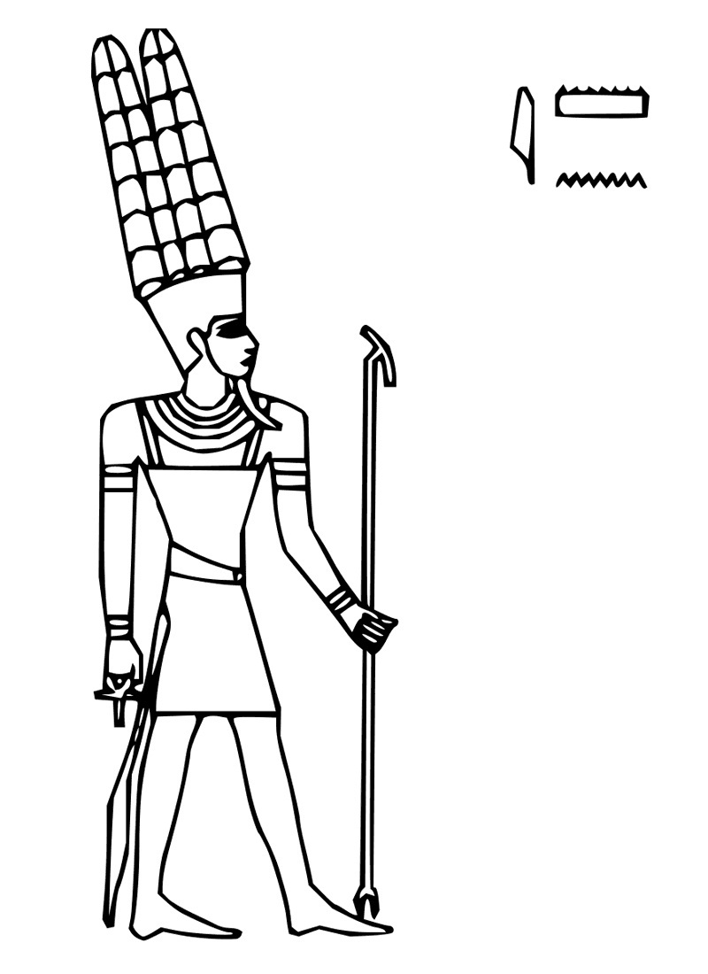 ancient egyptian cat coloring pages photo - 1
