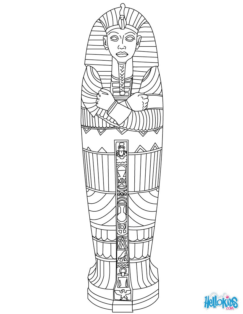 ancient egyptian color pages photo - 1