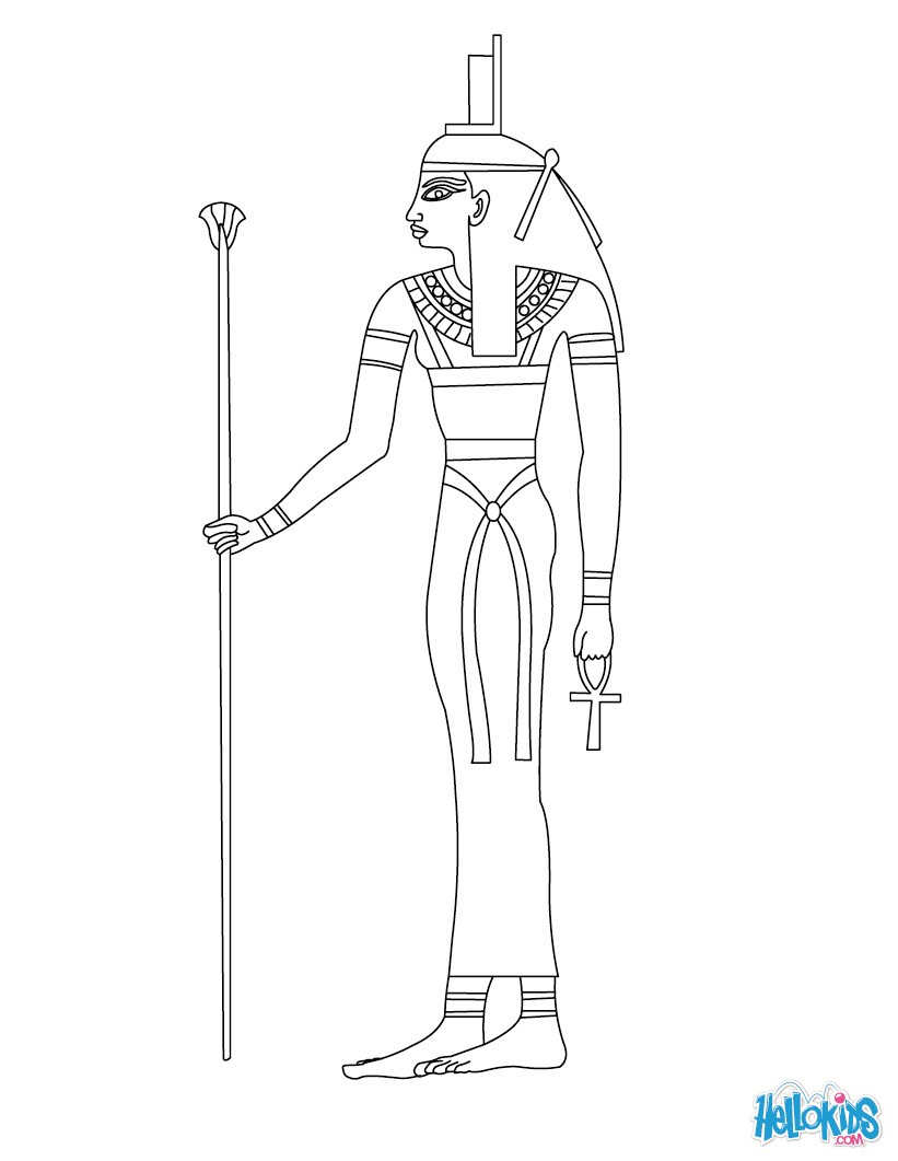 ancient egyptian gods coloring pages photo - 1