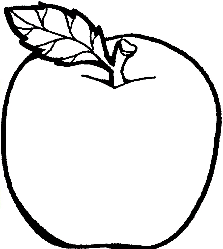 apple coloring pages photo - 1