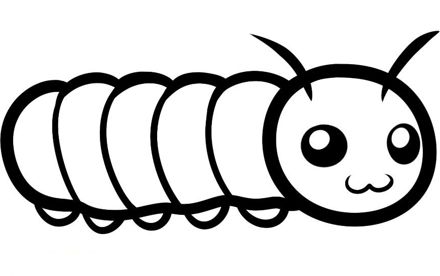 big hungry caterpillar coloring pages photo - 1