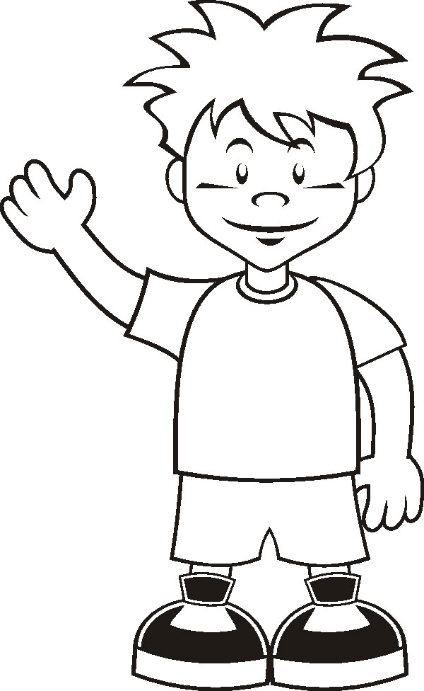 boy coloring pages photo - 1