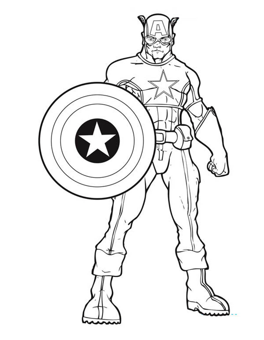 captain america coloring pages photo - 1