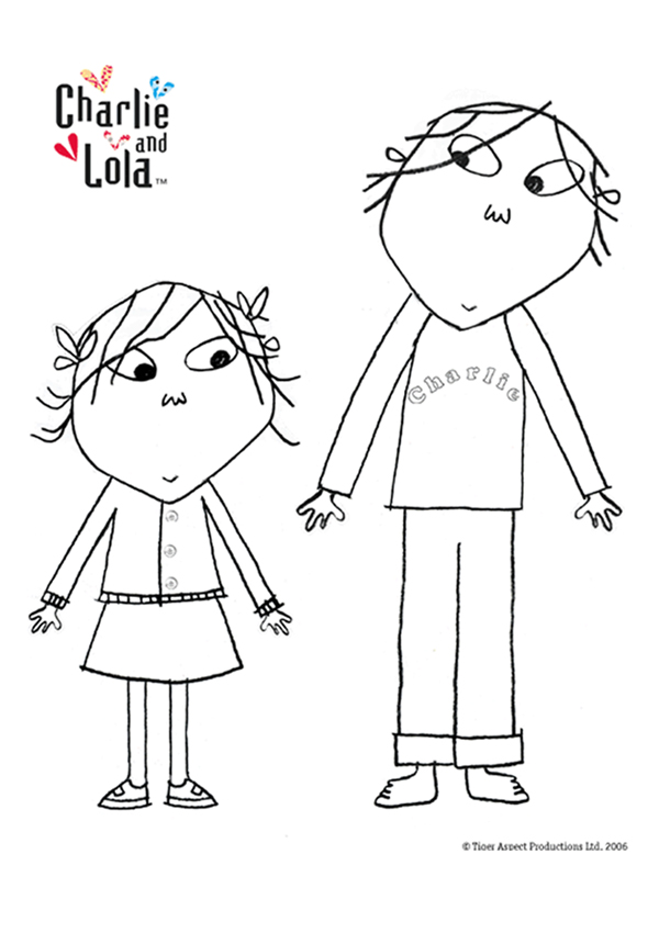 charlie and lola coloring pages to print photo - 1