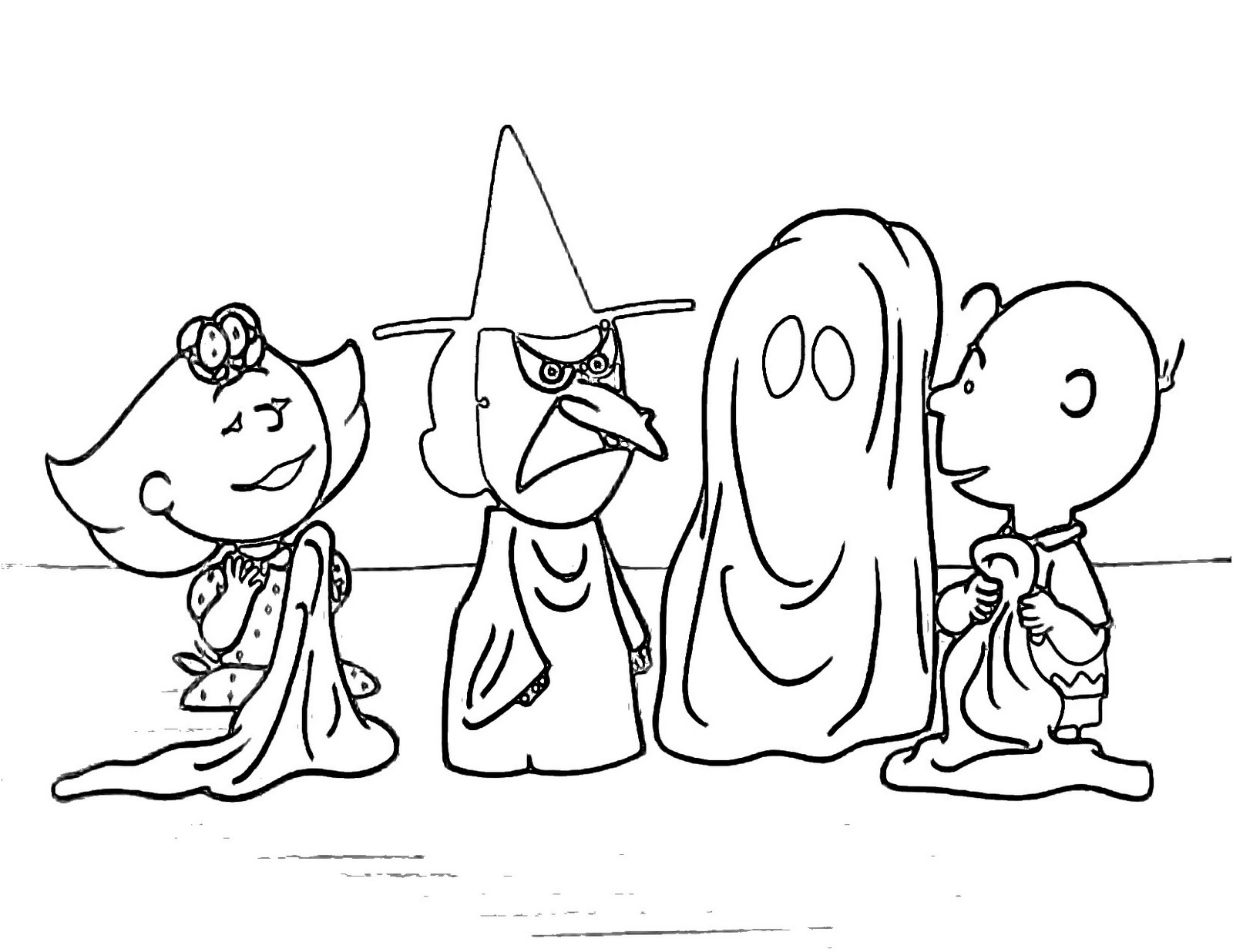 charlie brown and the great pumpkin coloring pages photo - 1