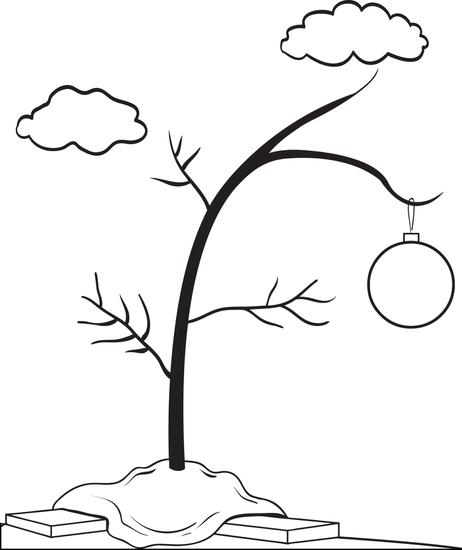 charlie brown christmas tree coloring pages photo - 1