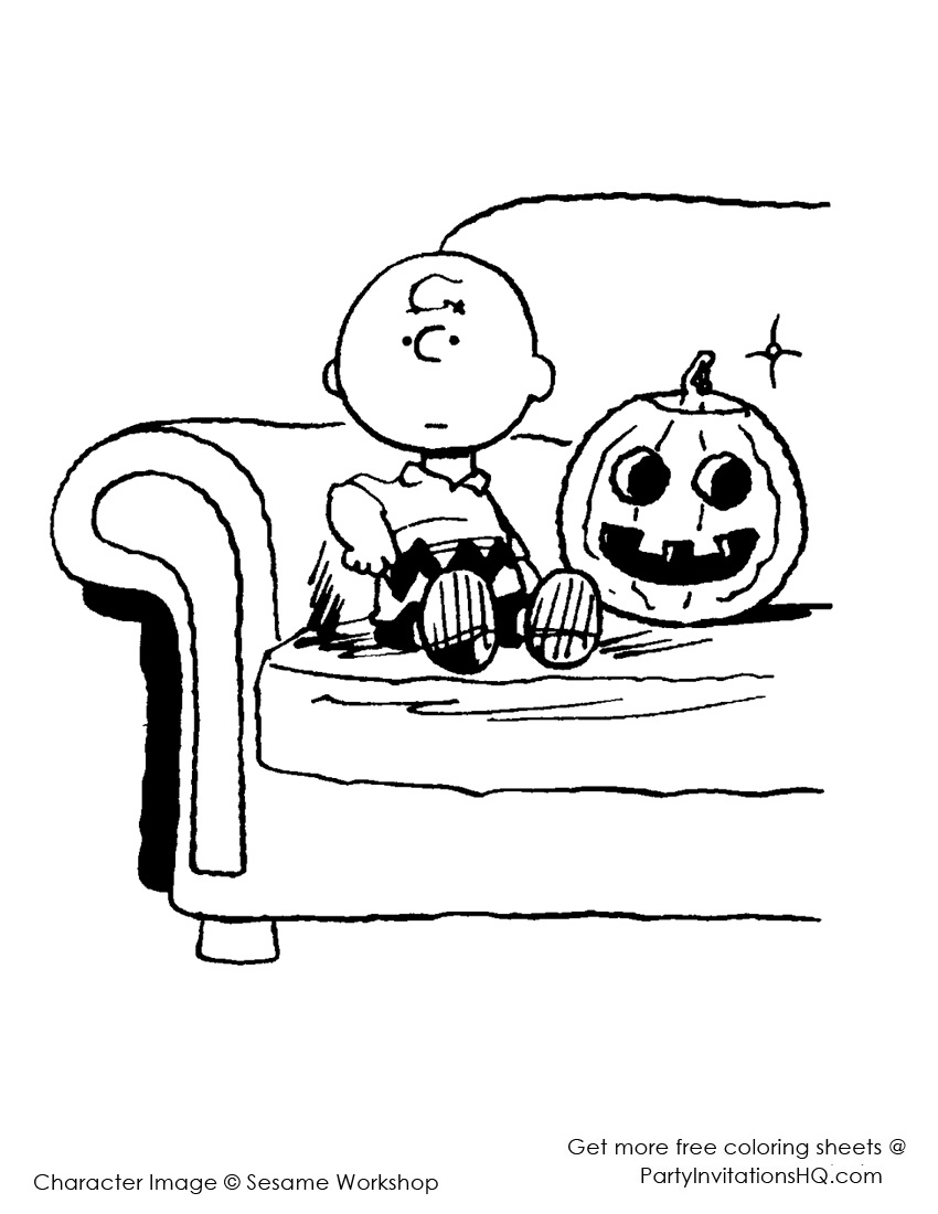charlie brown coloring pages halloween photo - 1