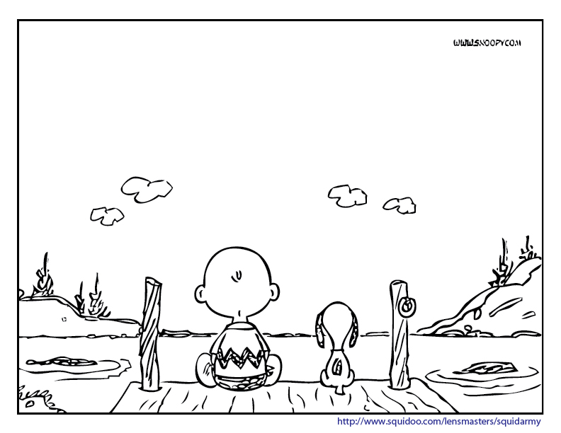 charlie brown peanuts coloring pages photo - 1