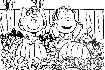 charlie brown pumpkin patch coloring pages photo - 1