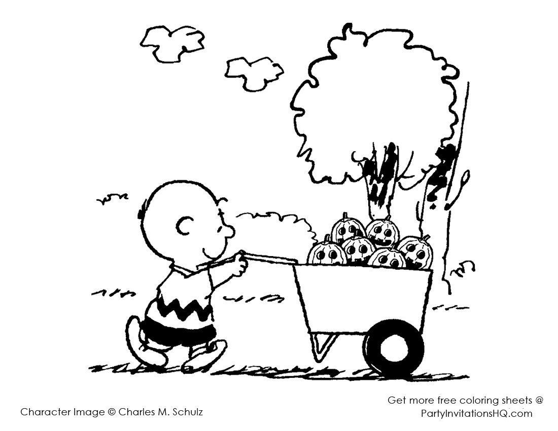 charlie brown thanksgiving coloring pages photo - 1