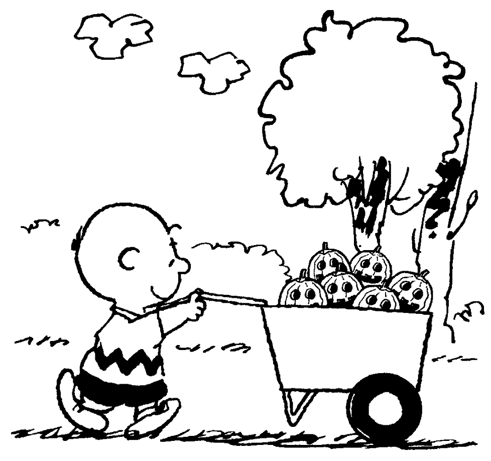 charlie brown the great pumpkin coloring pages photo - 1