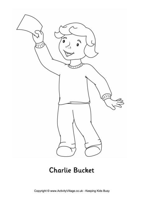 charlie bucket coloring page photo - 1