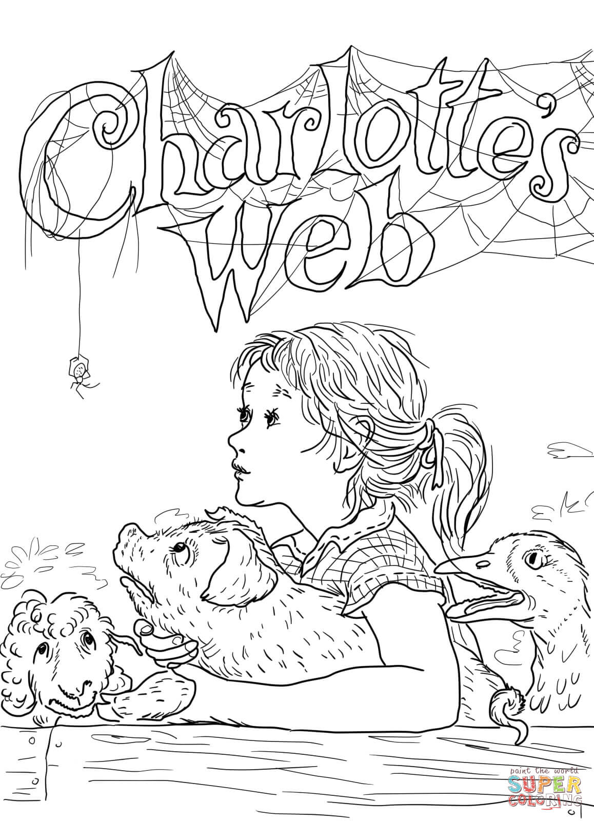 charlotte s web coloring pages photo - 1