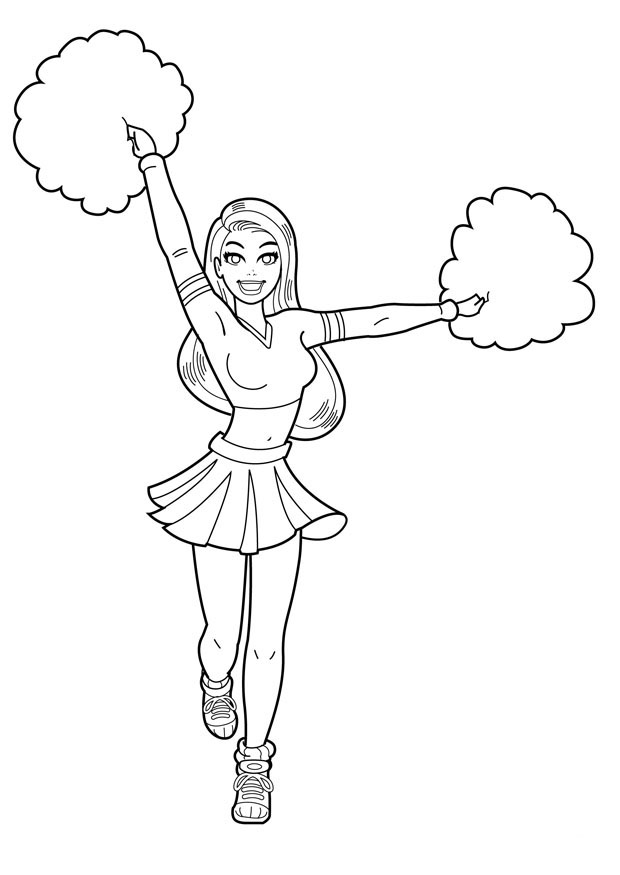 cheerleader coloring pages print photo - 1