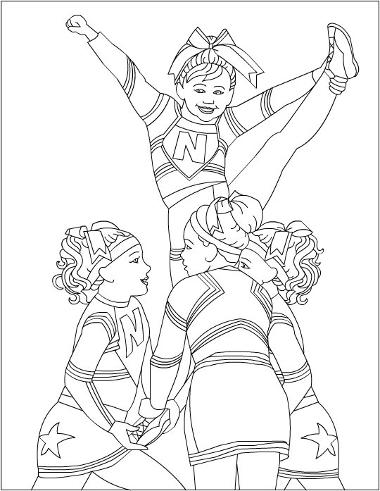 cheerleader coloring pages to print photo - 1
