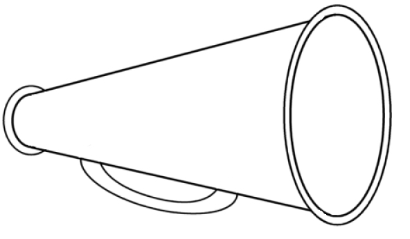 cheerleader megaphone coloring pages photo - 1
