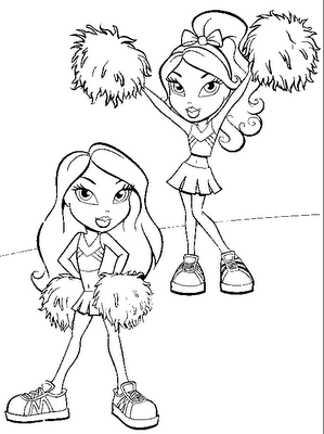 cheerleading pom pom coloring pages photo - 1