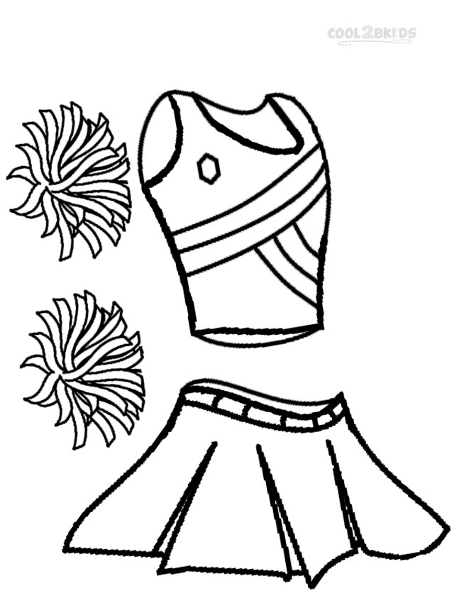 cheerleading uniform coloring pages photo - 1