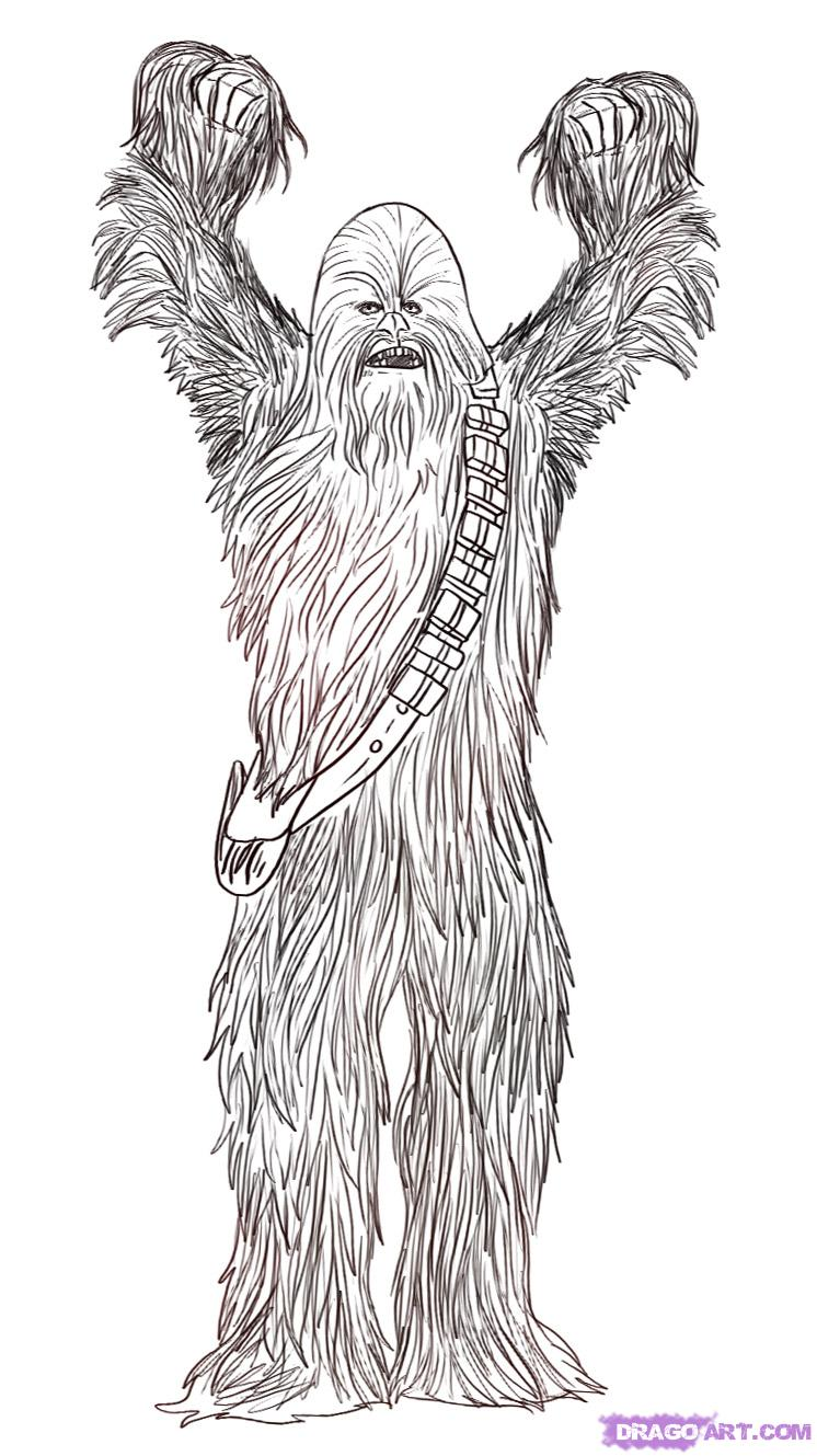 chewbacca coloring pages photo - 1