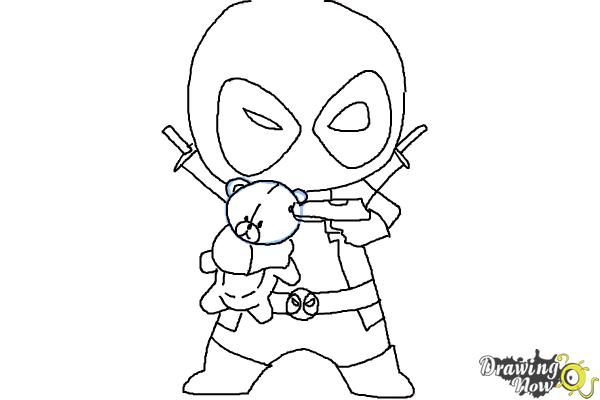 chibi deadpool coloring pages photo - 1