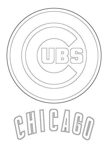 chicago cubs coloring pages photo - 1