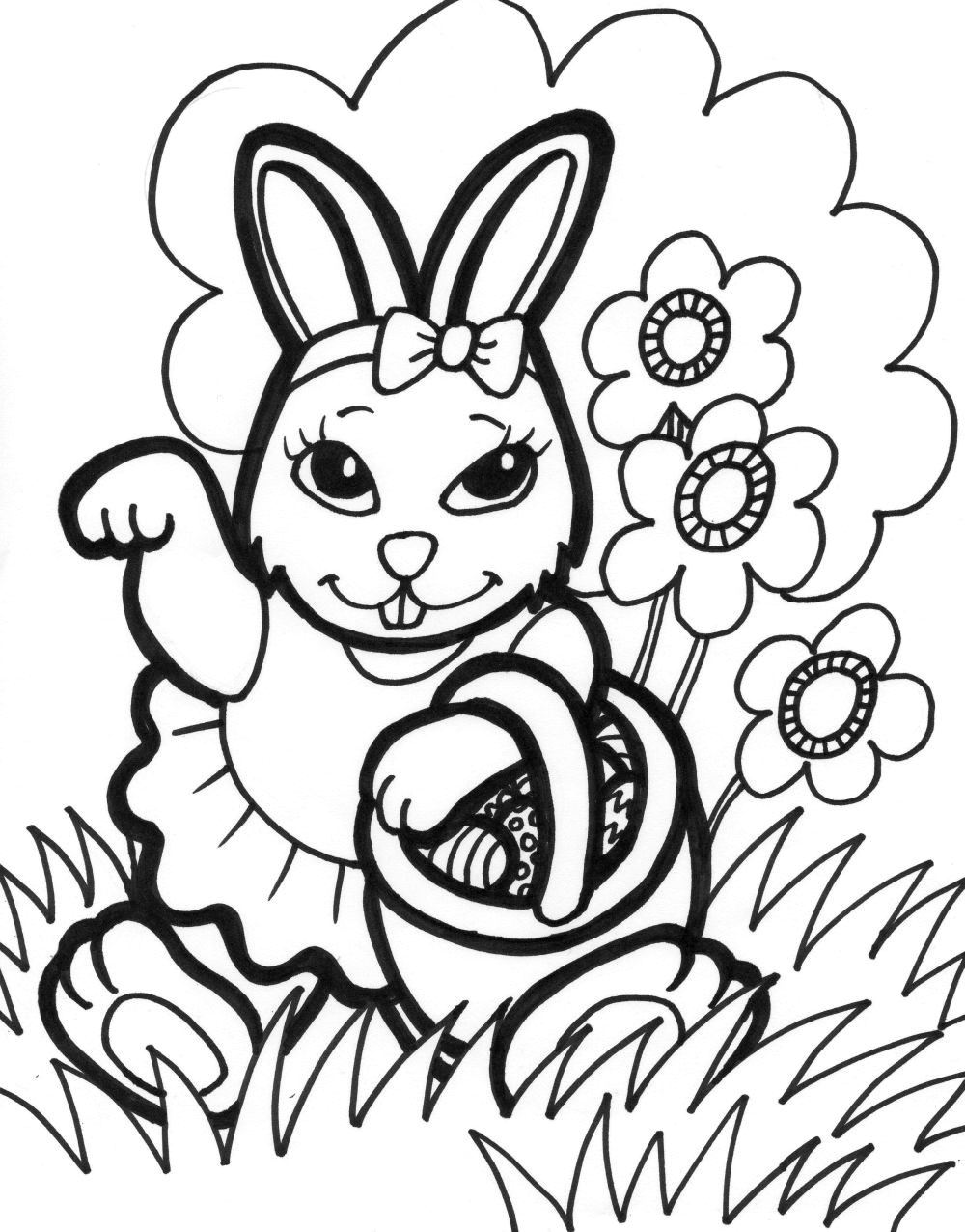 chick and bunny coloring pages photo - 1