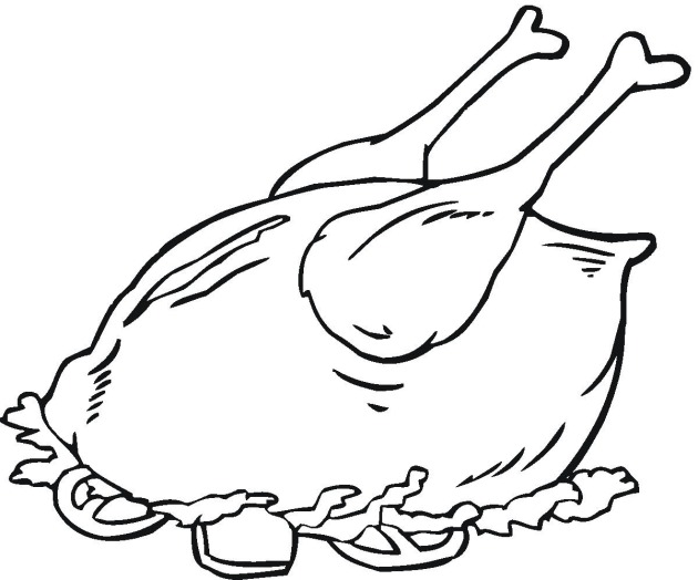 chicken dinner coloring pages photo - 1