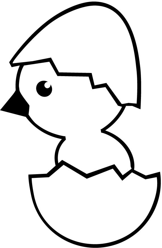 chicken egg coloring page photo - 1