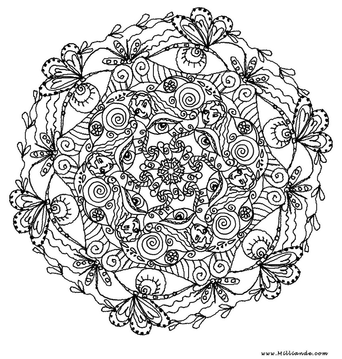 child mandala coloring pages photo - 1