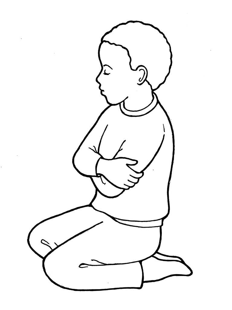 child praying coloring pages photo - 1