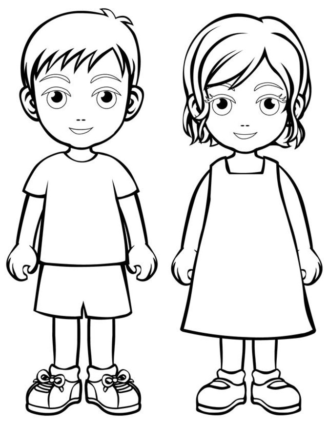 children coloring pages photo - 1