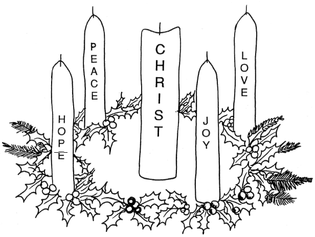 children s advent coloring pages photo - 1
