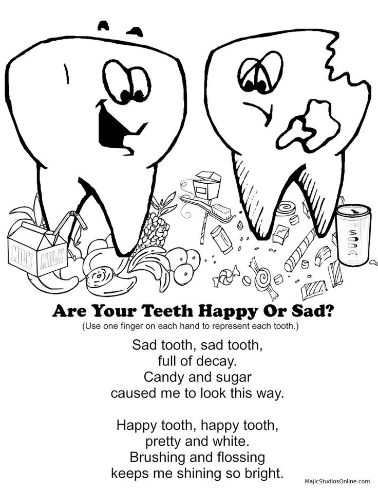 children s dental health coloring pages photo - 1