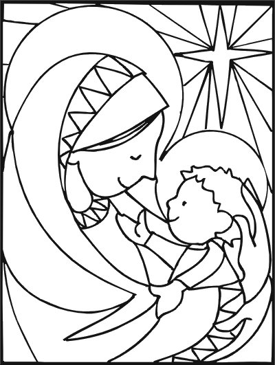children s rosary coloring page photo - 1