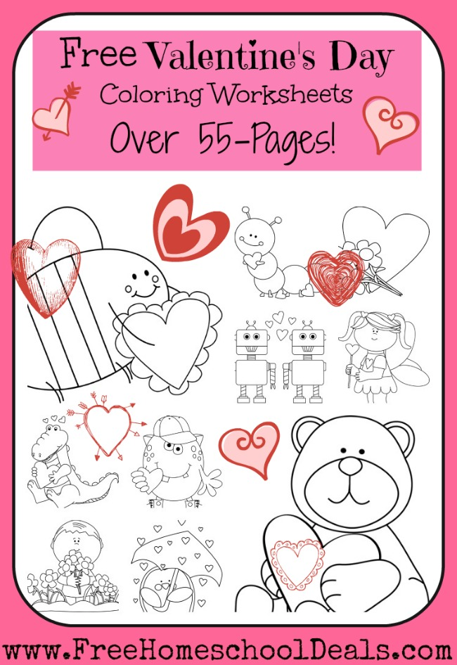children s valentines day coloring pages photo - 1