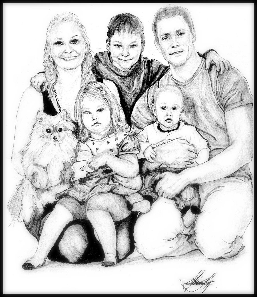 childrens coloring pages family photo - 1