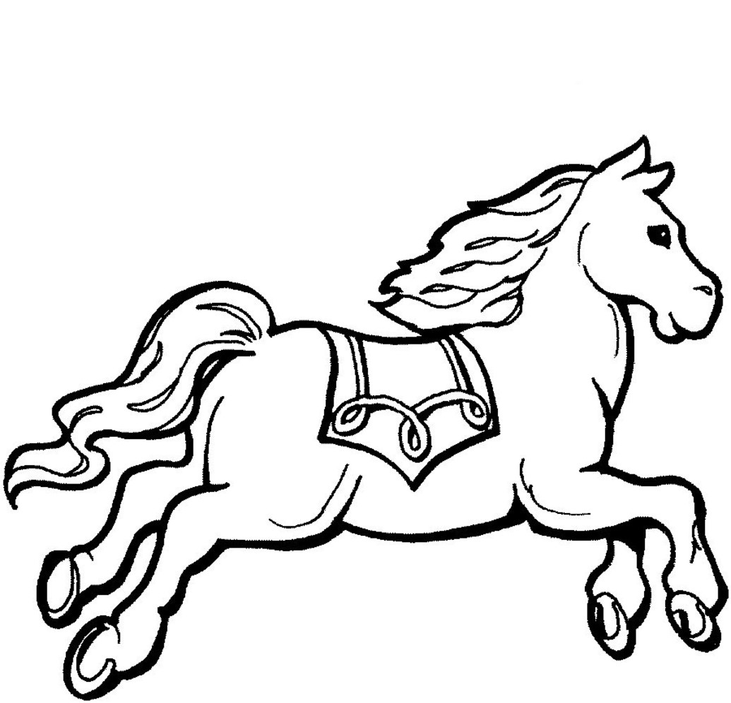 childrens coloring pages horses photo - 1