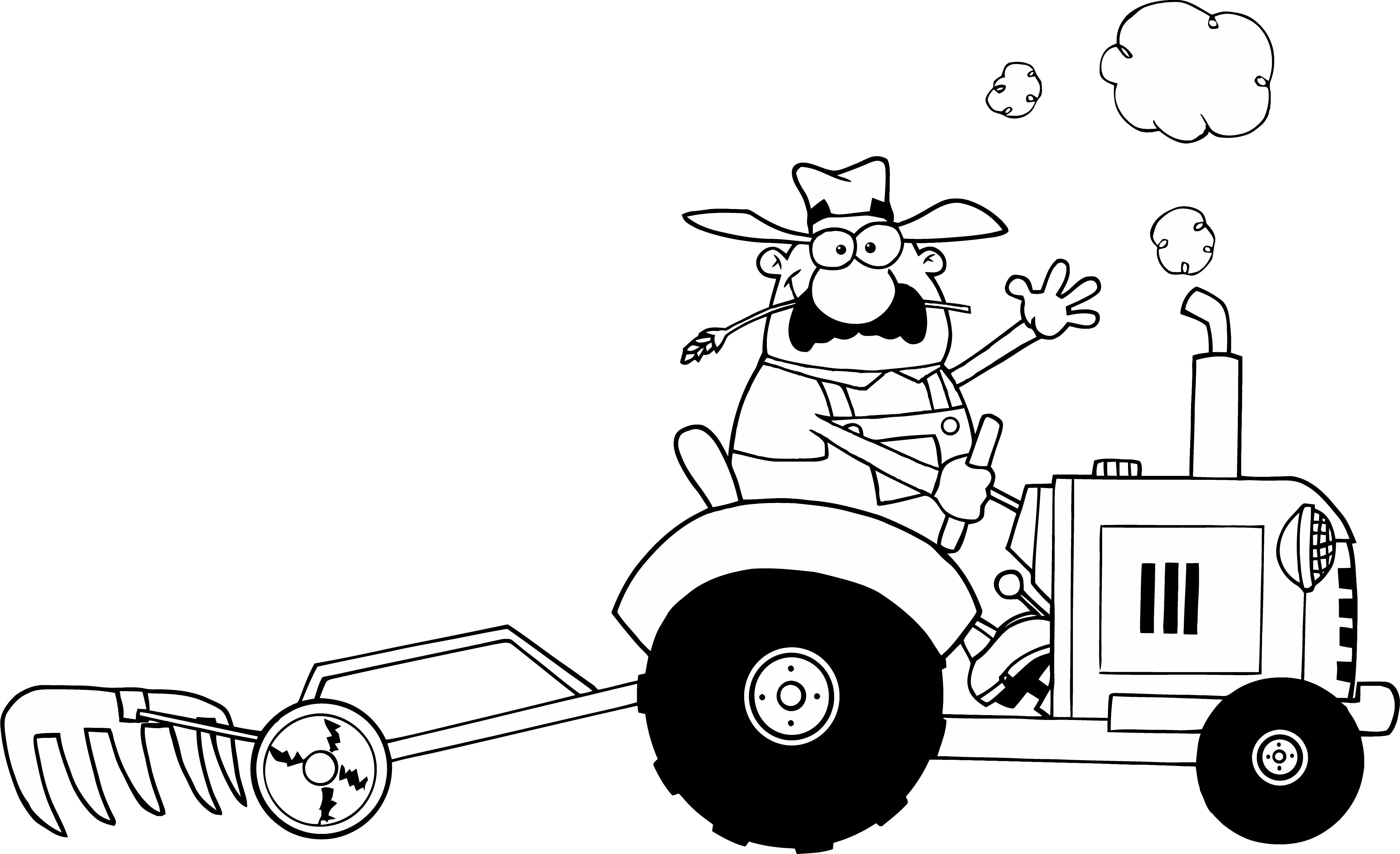 childrens tractor coloring pages photo - 1